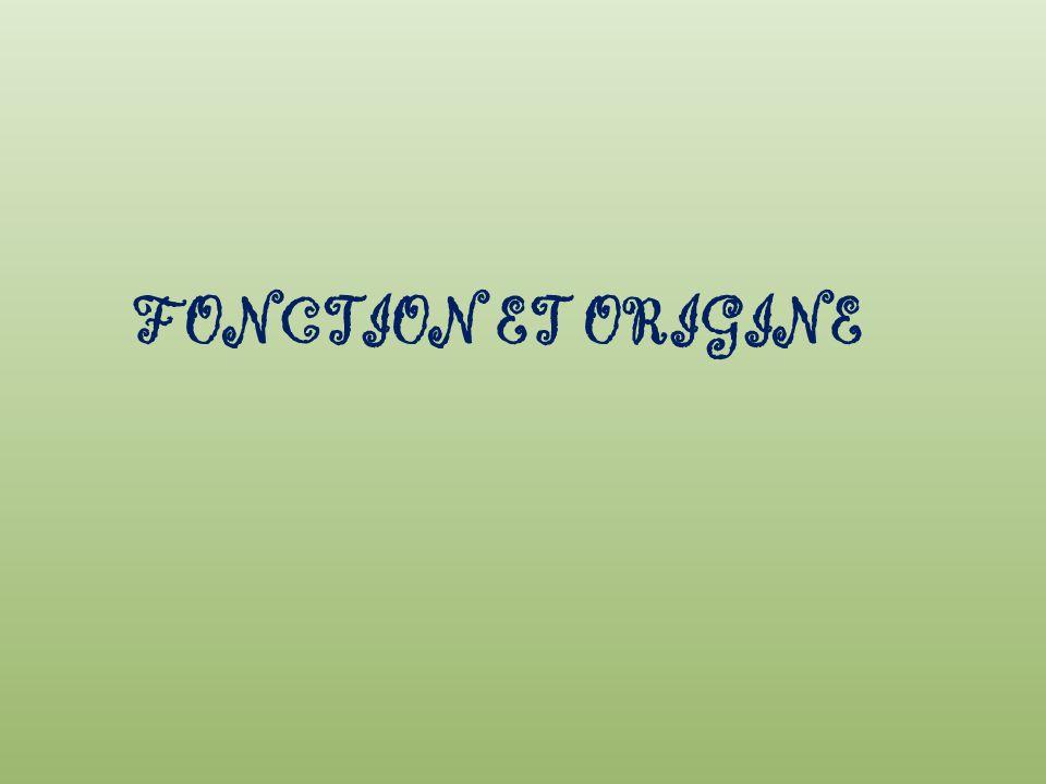 FONCTION ET ORIGINE