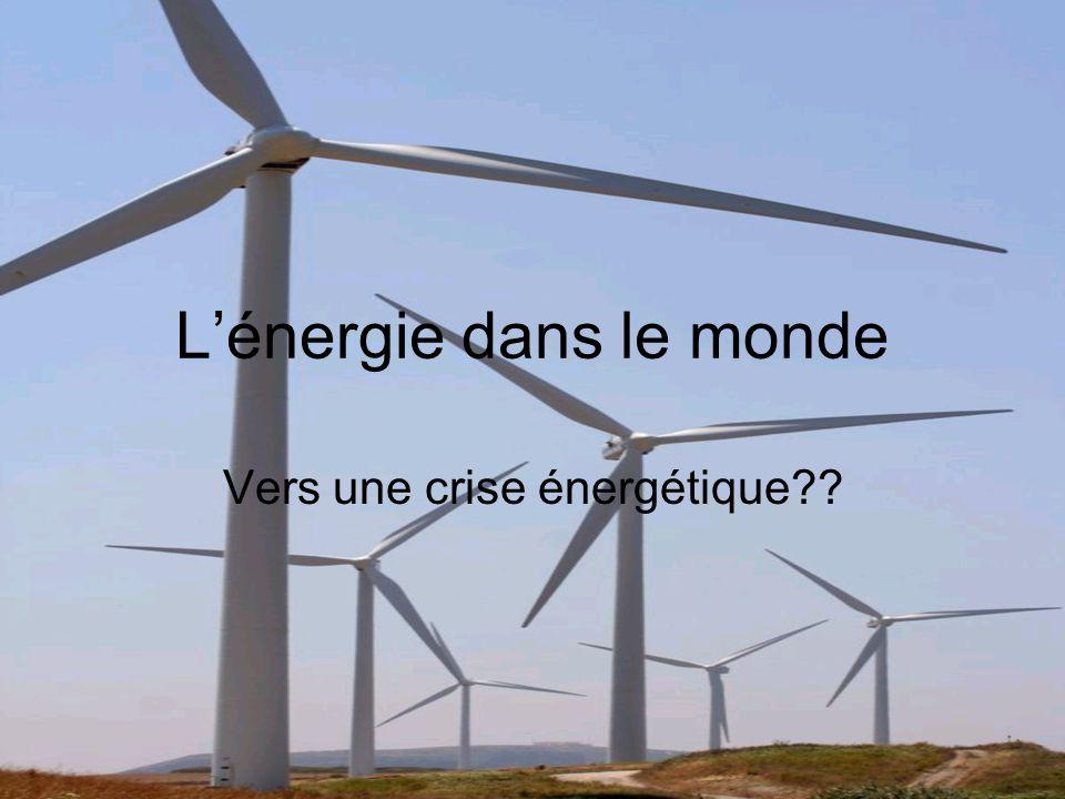 Énergie - définition La capacité de provoquer un changement, un mouvement Les besoins énergétiques et les ressources énergétiques de chaque pays ne sont pas les mêmes Sommes-nous près dune crise énergétique?