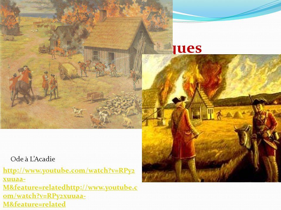 Les soldats britanniques incendient leurs fermes et prennent leur bétail Ode à LAcadie http://www.youtube.com/watch?v=RPy2 xuuaa- M&feature=relatedhtt