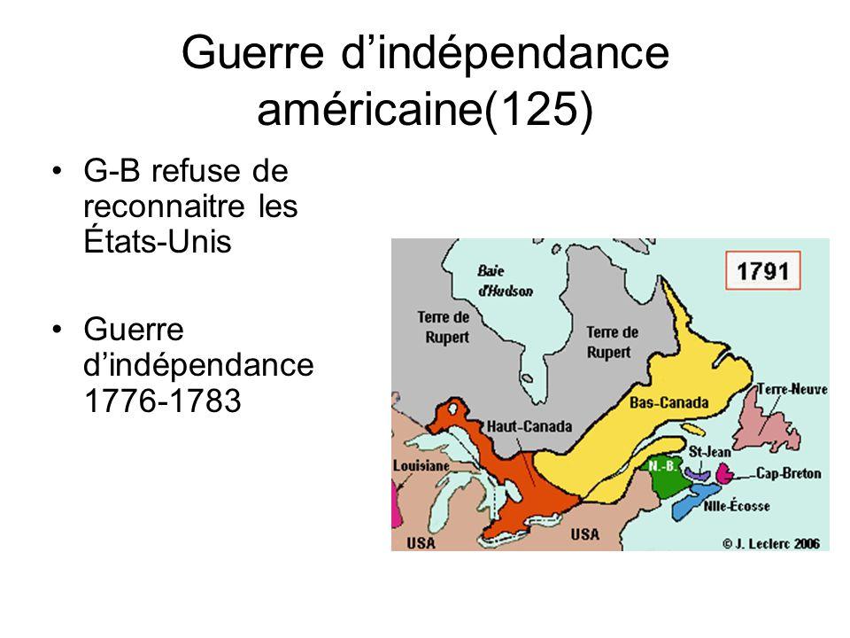 La Déclaration dindépendance (124) 4 juillet 1776 à Philadelphie –Texte inspiré des philosophes des Lumières (Thomas Jefferson)