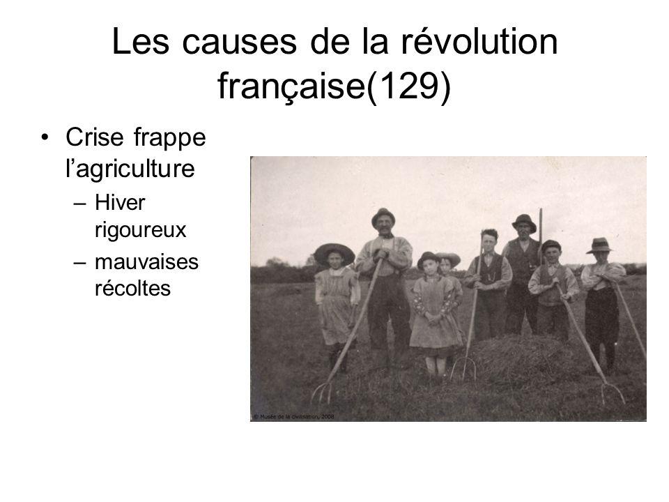 La révolution française Thème 1: Les causes Thème 2: Le déroulement de la révolution Thème 3: Le règne de terreur et la fin de la révolution