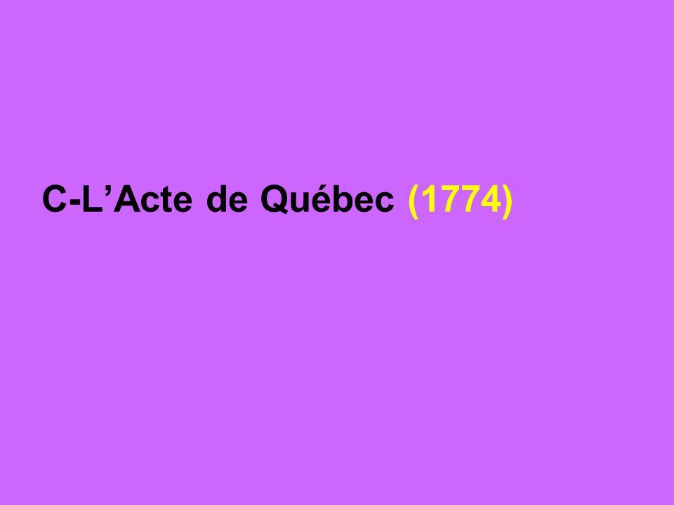 C-LActe de Québec (1774)
