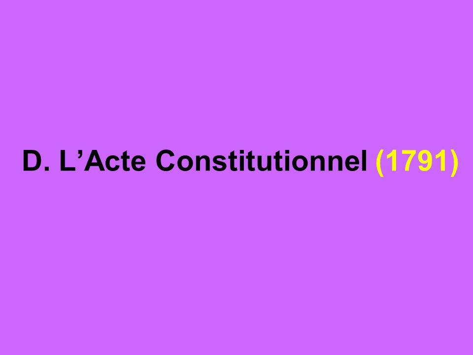 D. LActe Constitutionnel (1791)
