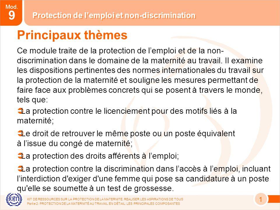 Mod.9 KIT DE RESSOURCES SUR LA PROTECTION DE LA MATERNITE.