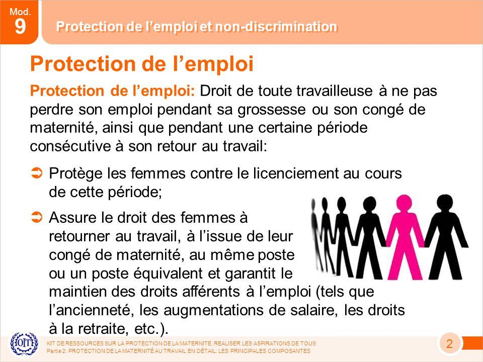 Mod. 9 KIT DE RESSOURCES SUR LA PROTECTION DE LA MATERNITE.