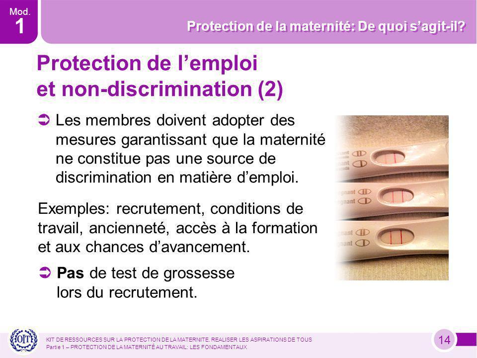 Mod. 1 Protection de la maternité: De quoi sagit-il.