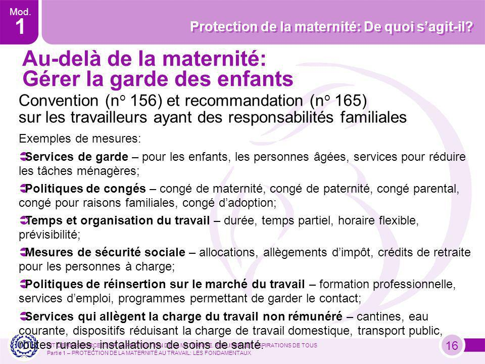 KIT DE RESSOURCES SUR LA PROTECTION DE LA MATERNITE.