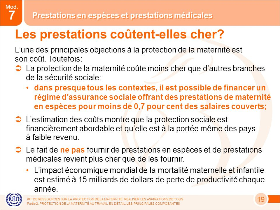 Mod.7 KIT DE RESSOURCES SUR LA PROTECTION DE LA MATERNITE.