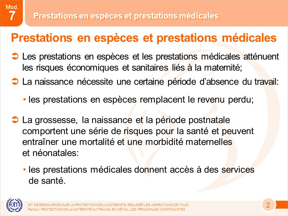 Mod. 7 KIT DE RESSOURCES SUR LA PROTECTION DE LA MATERNITE.