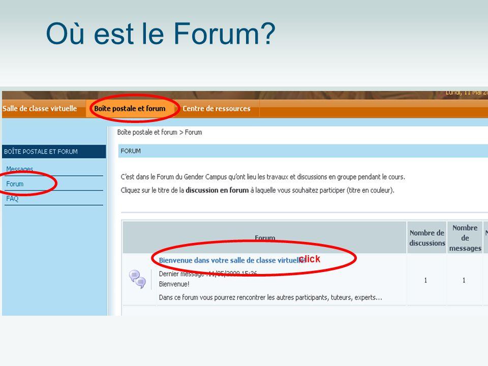 Où est le Forum? click