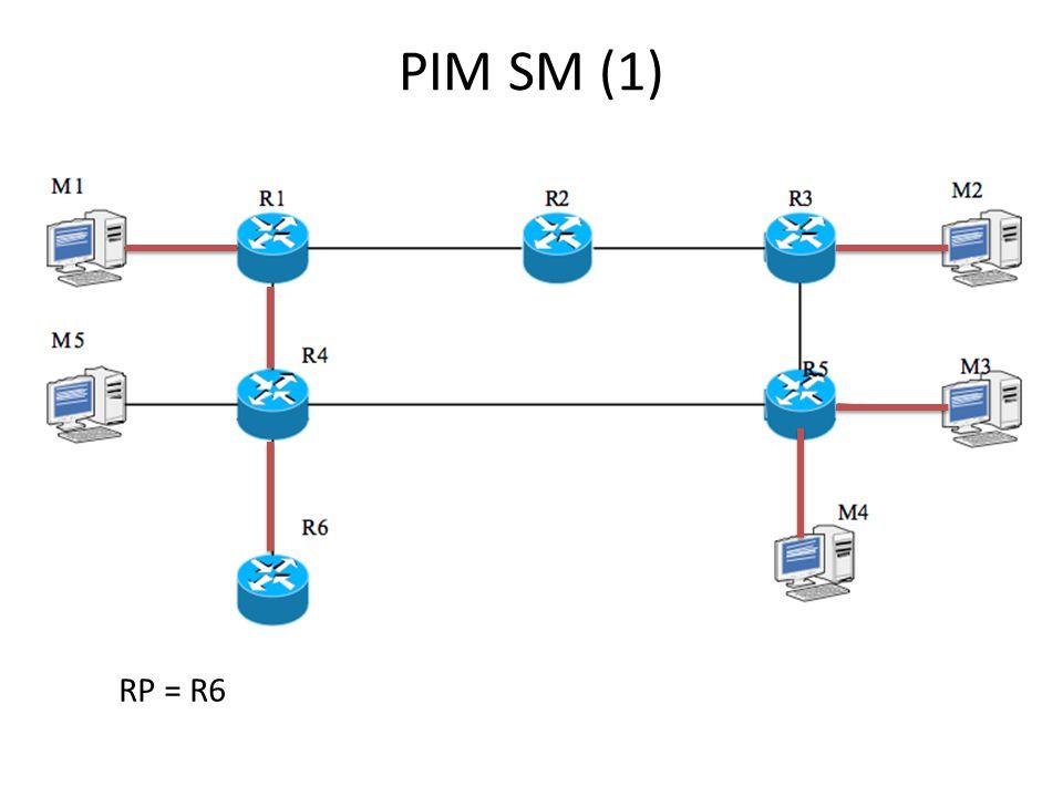 PIM SM (1) RP = R6