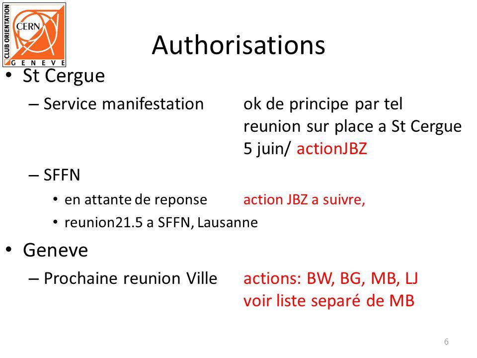 Authorisations St Cergue – Service manifestation ok de principe par tel reunion sur place a St Cergue 5 juin/ actionJBZ – SFFN en attante de reponseac