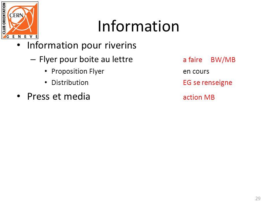 Information Information pour riverins – Flyer pour boite au lettre a faire BW/MB Proposition Flyeren cours Distribution EG se renseigne Press et media action MB 29