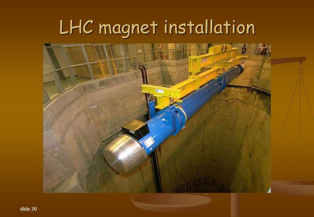 slide 20 LHC magnet installation