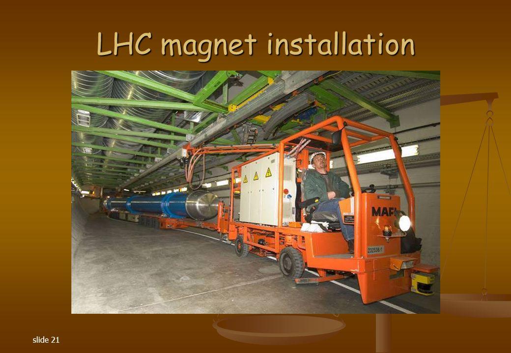 slide 21 LHC magnet installation