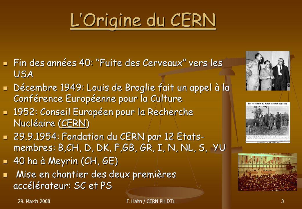 LOrigine du CERN Fin des années 40: Fuite des Cerveaux vers les USA Fin des années 40: Fuite des Cerveaux vers les USA Décembre 1949: Louis de Broglie