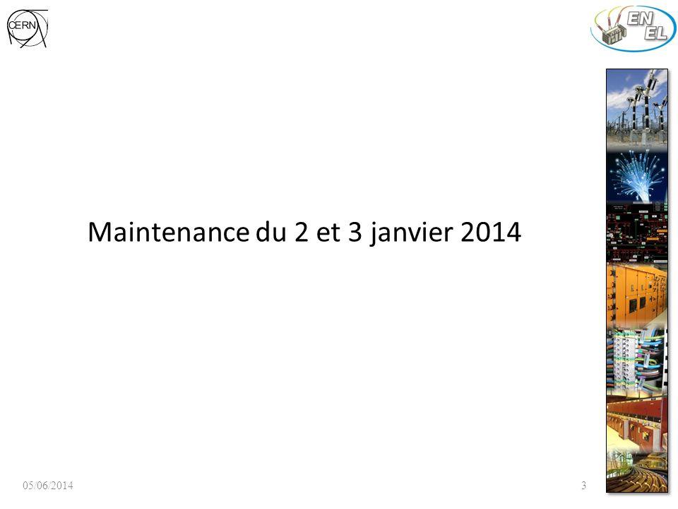 Maintenance du 2 et 3 janvier 2014 05/06/20143