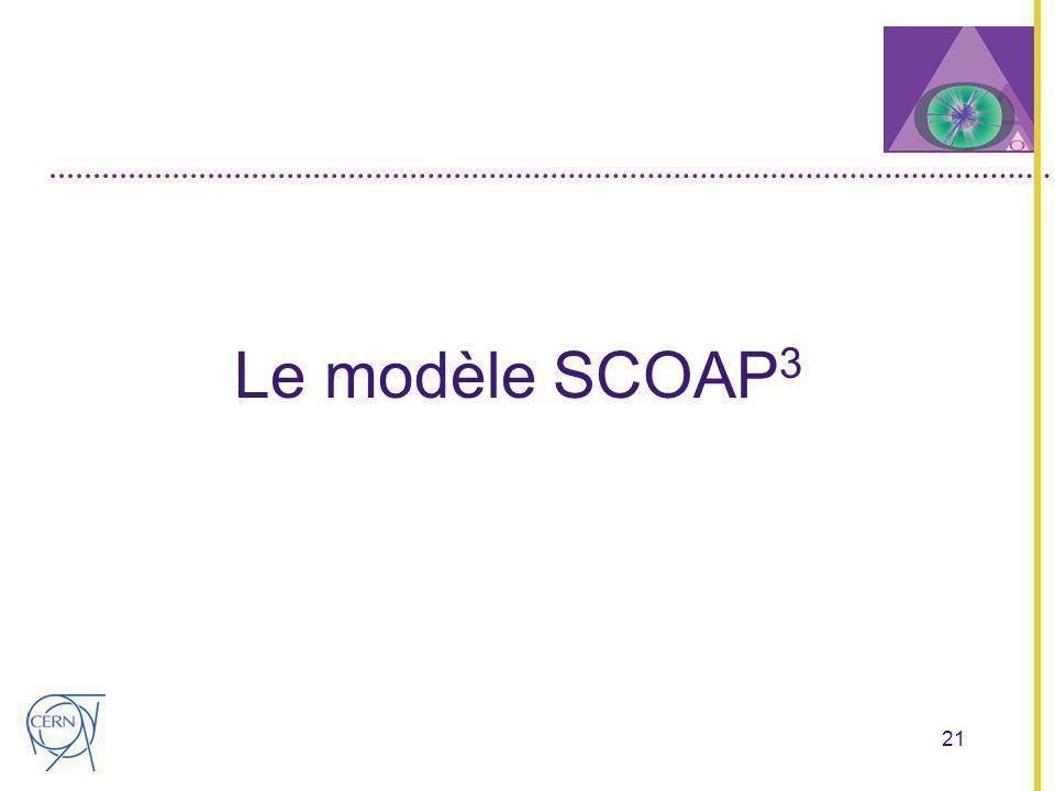 21 Le modèle SCOAP 3