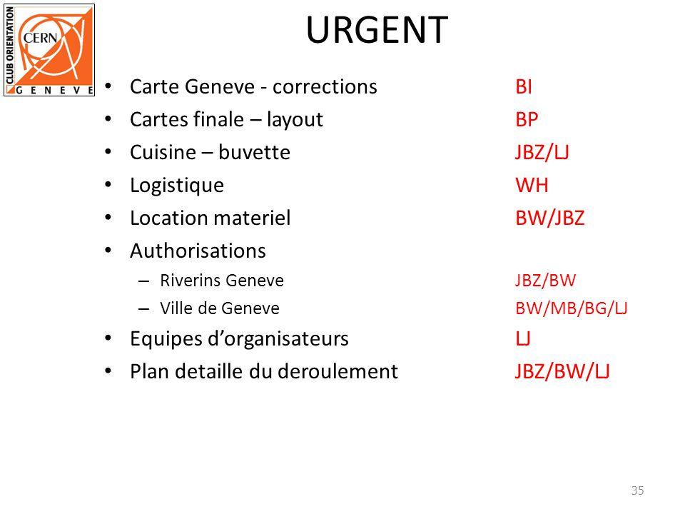 URGENT Carte Geneve - correctionsBI Cartes finale – layoutBP Cuisine – buvetteJBZ/LJ LogistiqueWH Location materiel BW/JBZ Authorisations – Riverins G