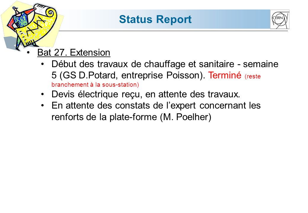 Status Report Bat 510.