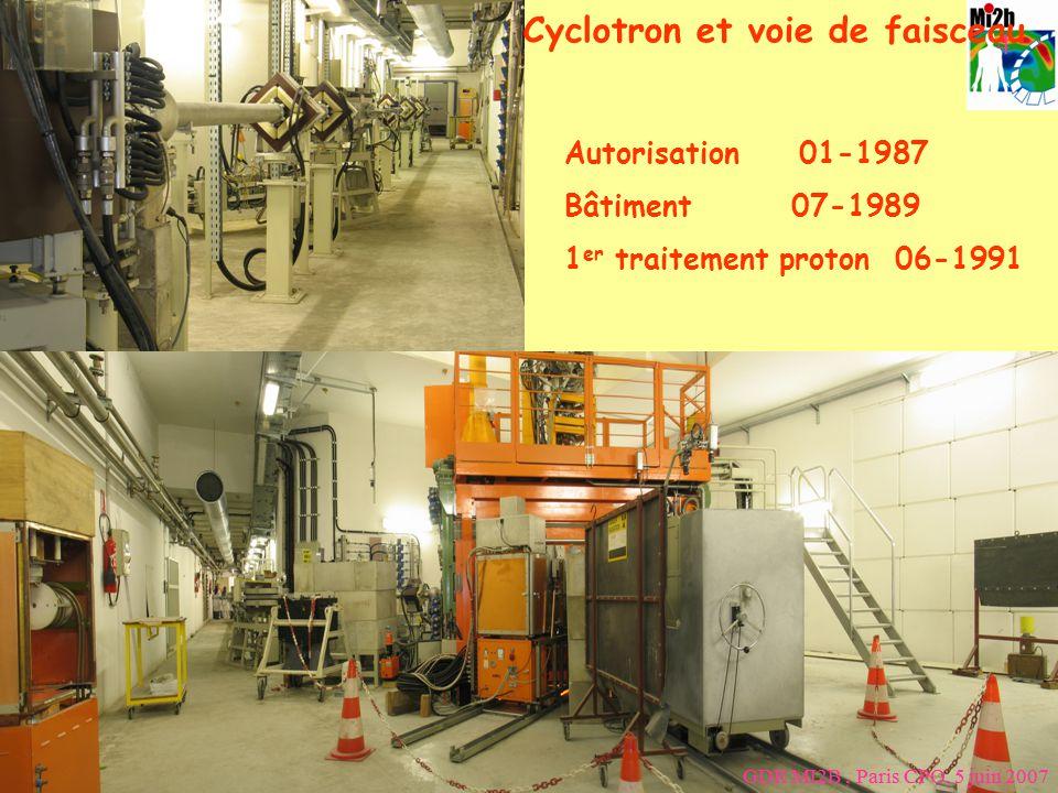 Manchester April 10th 2008 3 Cyclotron et voie de faisceau GDR MI2B, Paris CPO, 5 juin 2007 Autorisation 01-1987 Bâtiment 07-1989 1 er traitement prot