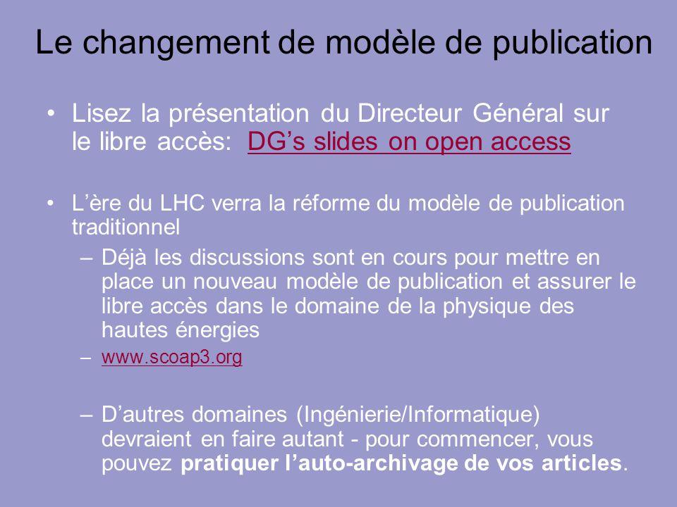 Le changement de modèle de publication Lisez la présentation du Directeur Général sur le libre accès: DGs slides on open accessDGs slides on open acce