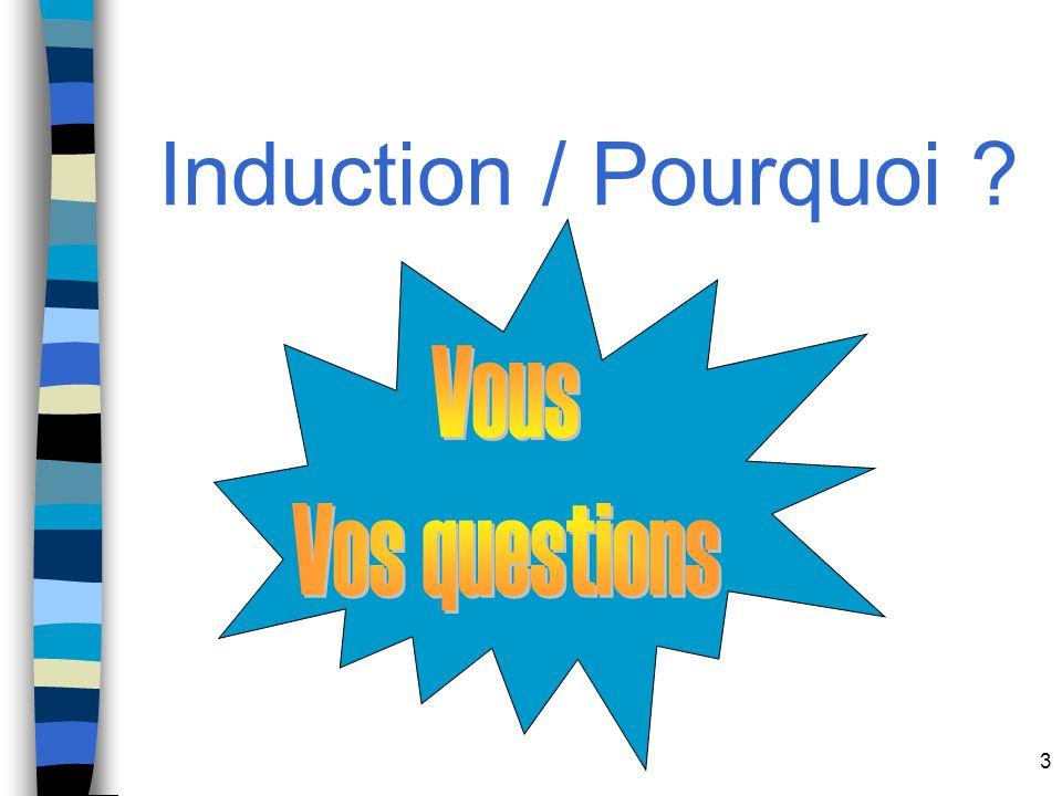 3 Induction / Pourquoi ?
