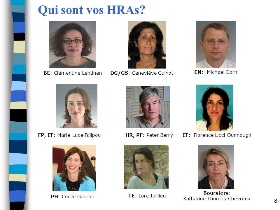 9 Programme dinduction Programme Central - HR Actions des Départements