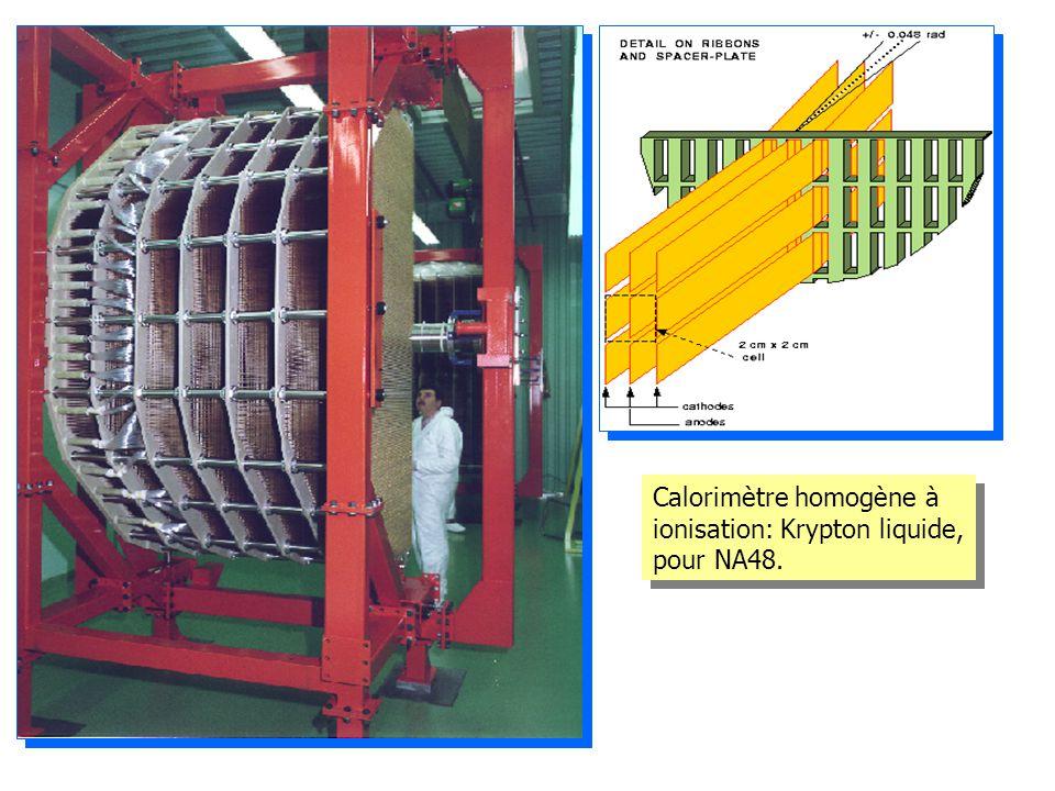 Calorimètre homogène à ionisation: Krypton liquide, pour NA48.