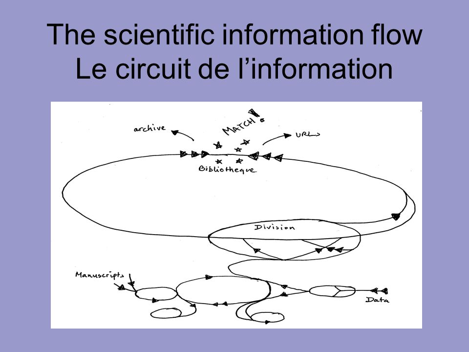 The scientific information flow Le circuit de linformation