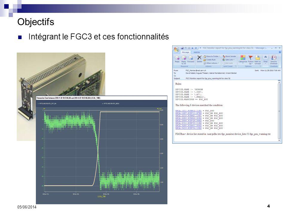 5 05/06/2014 Objectifs Intégrant le FGC3 et ces fonctionnalités
