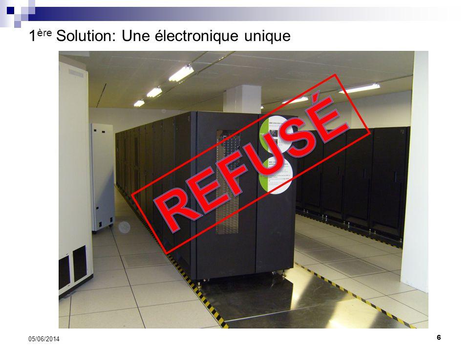 6 05/06/2014 1 ère Solution: Une électronique unique