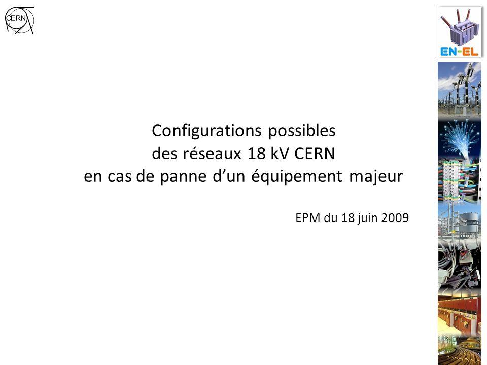 Configurations possibles des réseaux 18 kV CERN en cas de panne dun équipement majeur EPM du 18 juin 2009