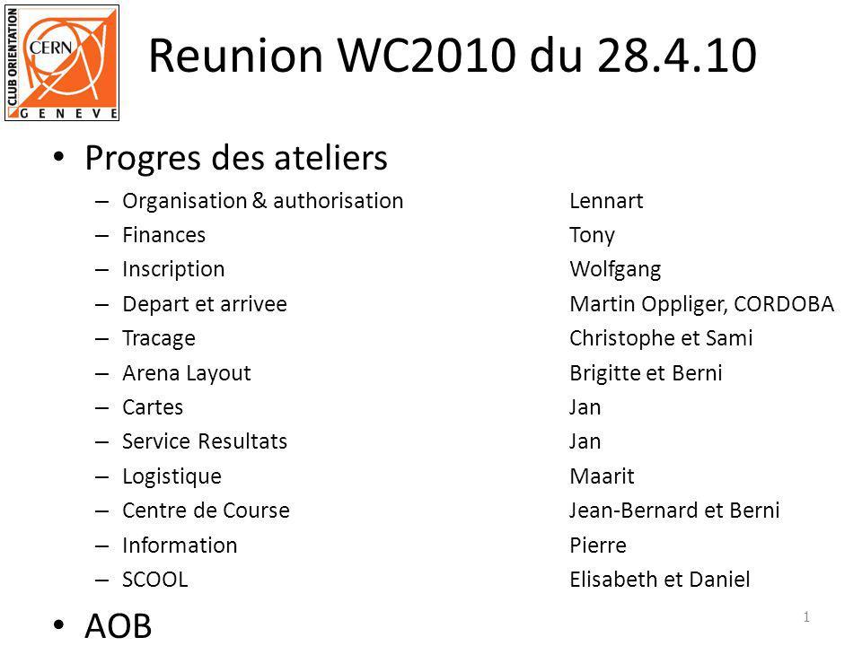 Authorisations St Cergue – Service manifestation ok de principe par tel reunion sur place a St Cergue 5 juin/ actionJBZ – SFFN en attante de reponseaction JBZ a suivre Geneve – Prochaine reunion Villeactions: BW, BG, MB, LJ voir liste separé de Marc 2