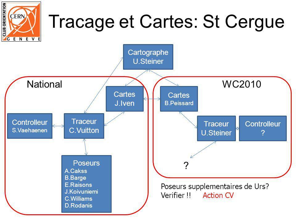 Tracage St Cergue – Categories 43 categories: 39 normales + 4 ouvertes Jalonné.