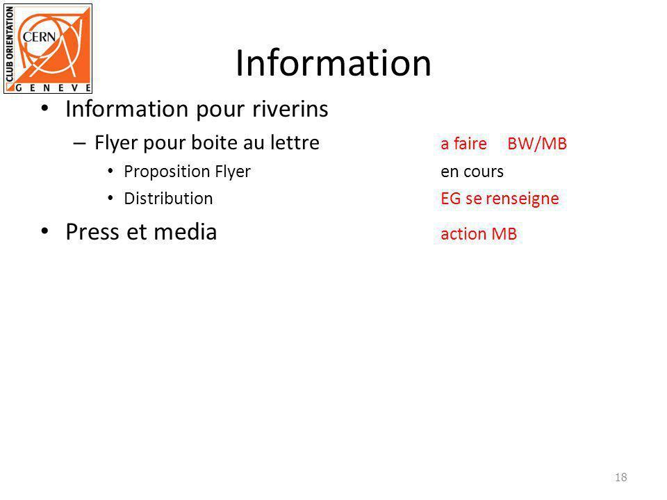 Information Information pour riverins – Flyer pour boite au lettre a faire BW/MB Proposition Flyeren cours Distribution EG se renseigne Press et media action MB 18