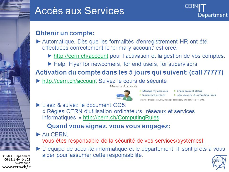 CERN IT Department CH-1211 Genève 23 Switzerland www.cern.ch/i t Sinformer !! 13 CERN Home Page