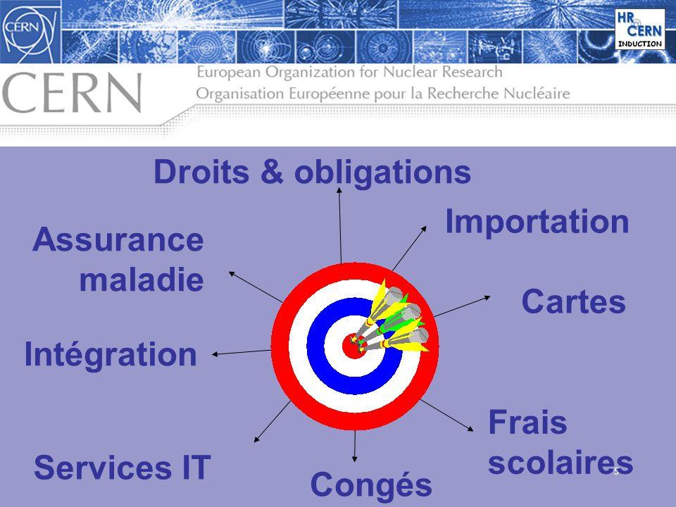 5 Droits & obligations Importation Cartes Frais scolaires Congés Intégration Assurance maladie Services IT
