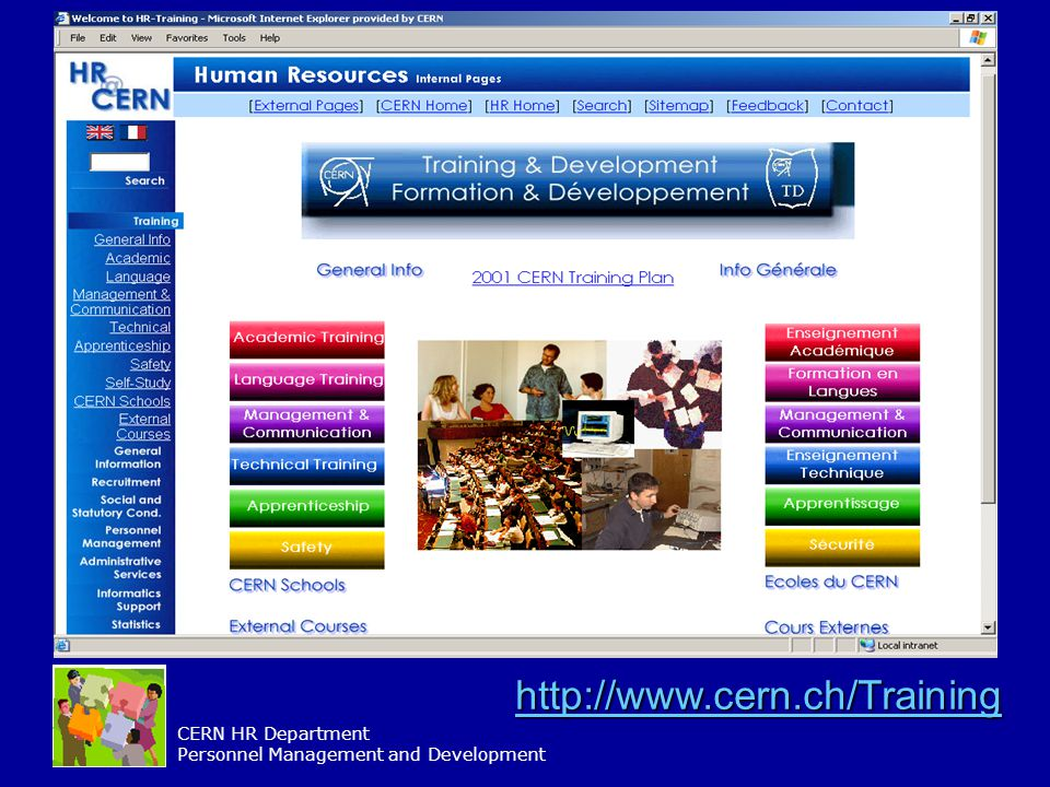 CERN HR Department Personnel Management and Development http://www.cern.ch/Training
