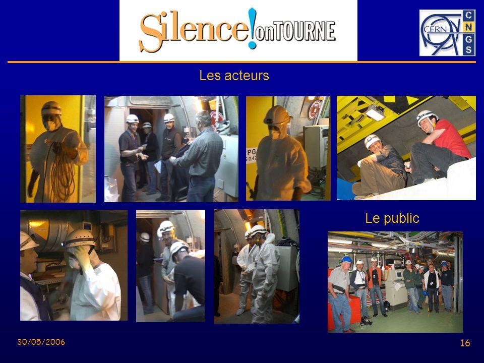 16 30/05/2006 16 Le public Les acteurs