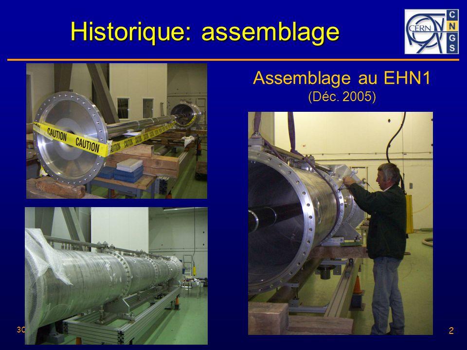 2 30/05/2006 2 Historique: assemblage Assemblage au EHN1 (Déc. 2005)