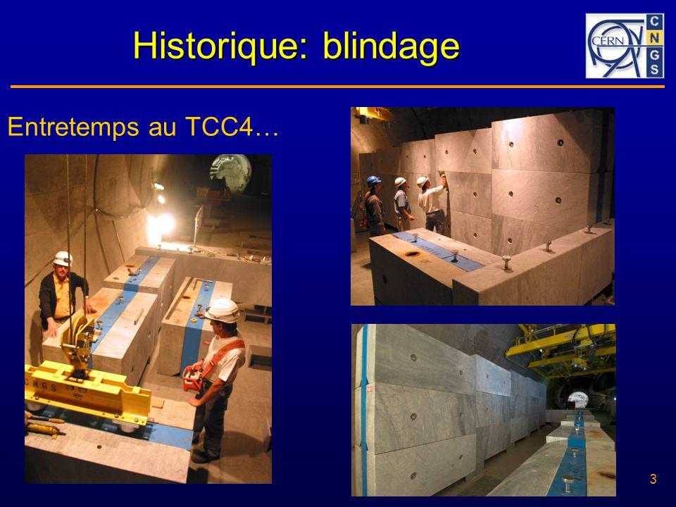 3 30/05/2006 3 Historique: blindage Entretemps au TCC4…