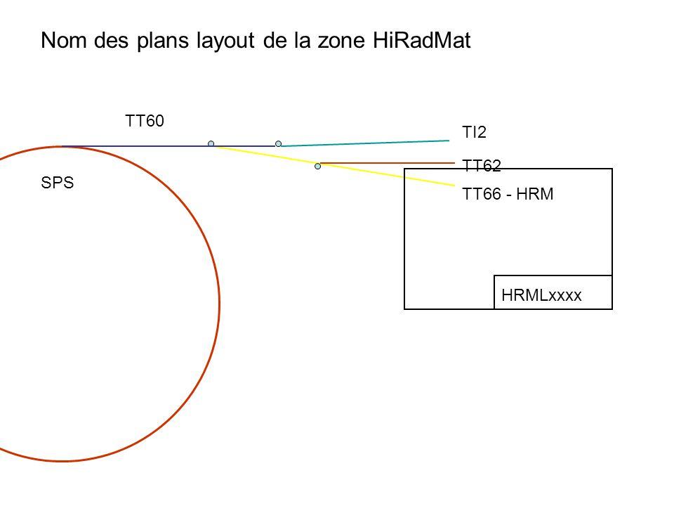TI2 TT62 TT66 - HRM TT60 SPS HRMLxxxx Nom des plans layout de la zone HiRadMat