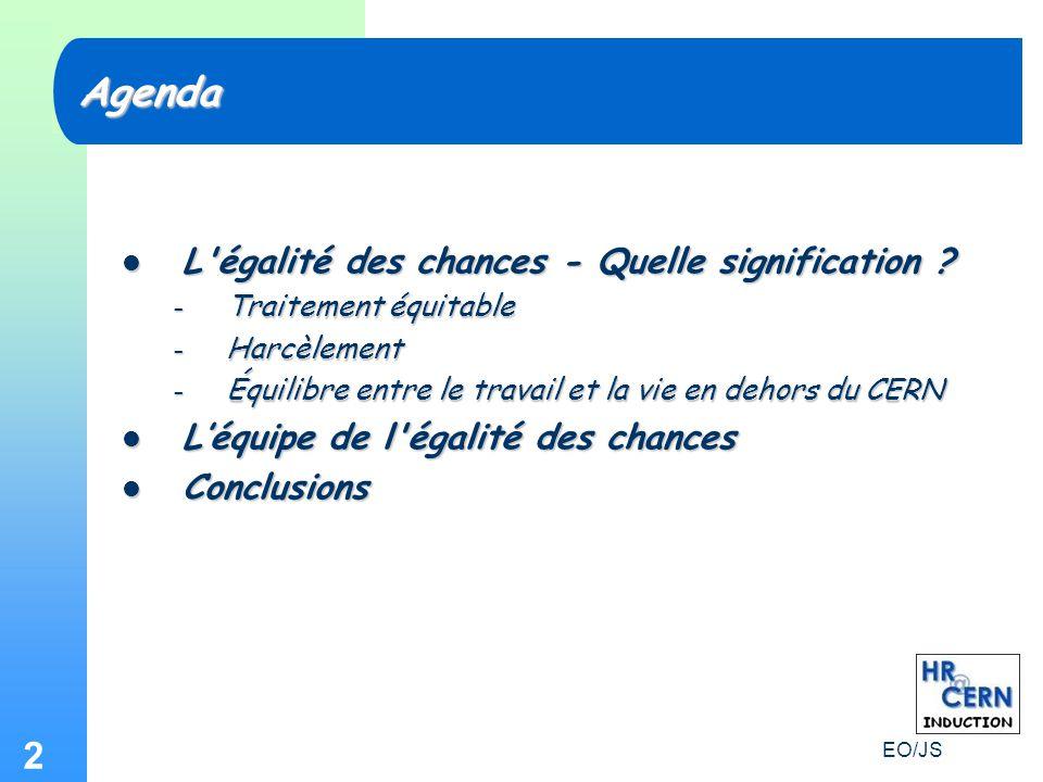 EO/JS 2 L égalité des chances - Quelle signification .