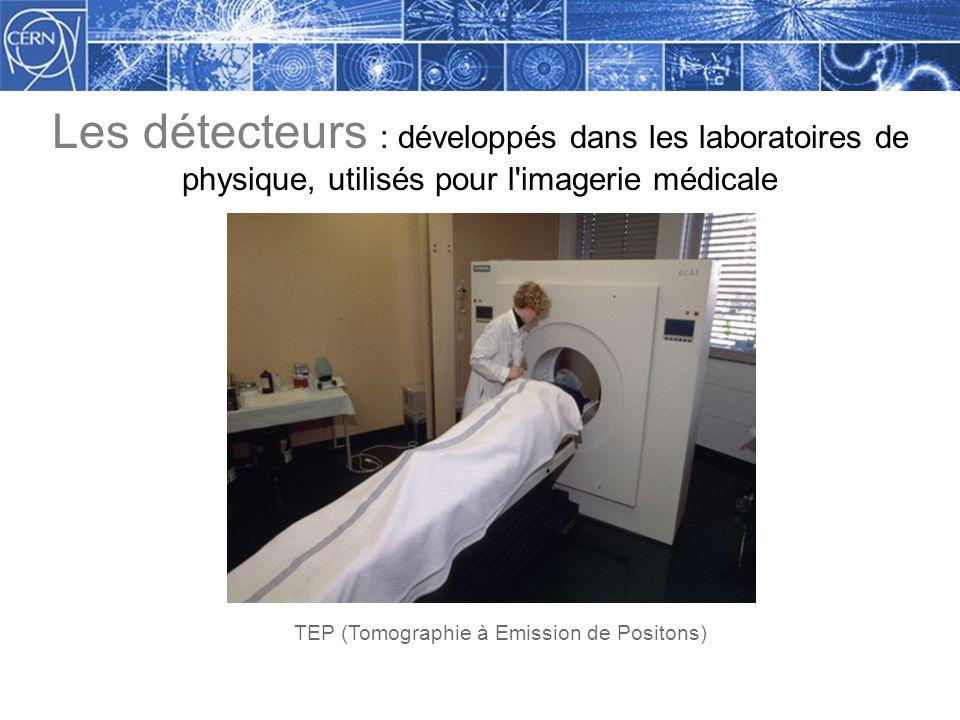 Les détecteurs : développés dans les laboratoires de physique, utilisés pour l imagerie médicale TEP (Tomographie à Emission de Positons)
