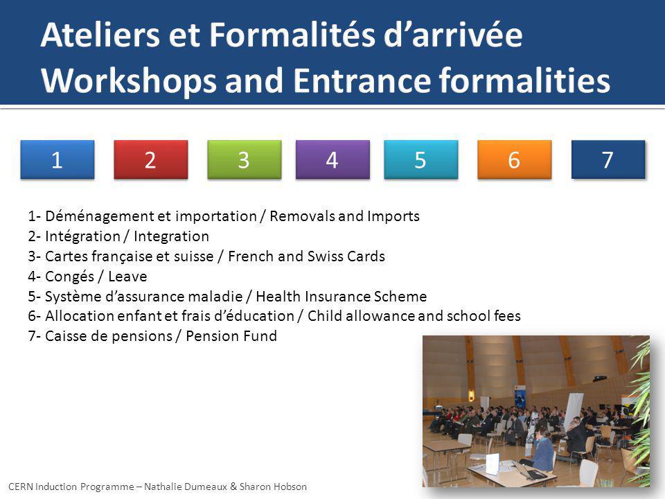 1 1 7 7 6 6 5 5 4 4 3 3 2 2 1- Déménagement et importation / Removals and Imports 2- Intégration / Integration 3- Cartes française et suisse / French
