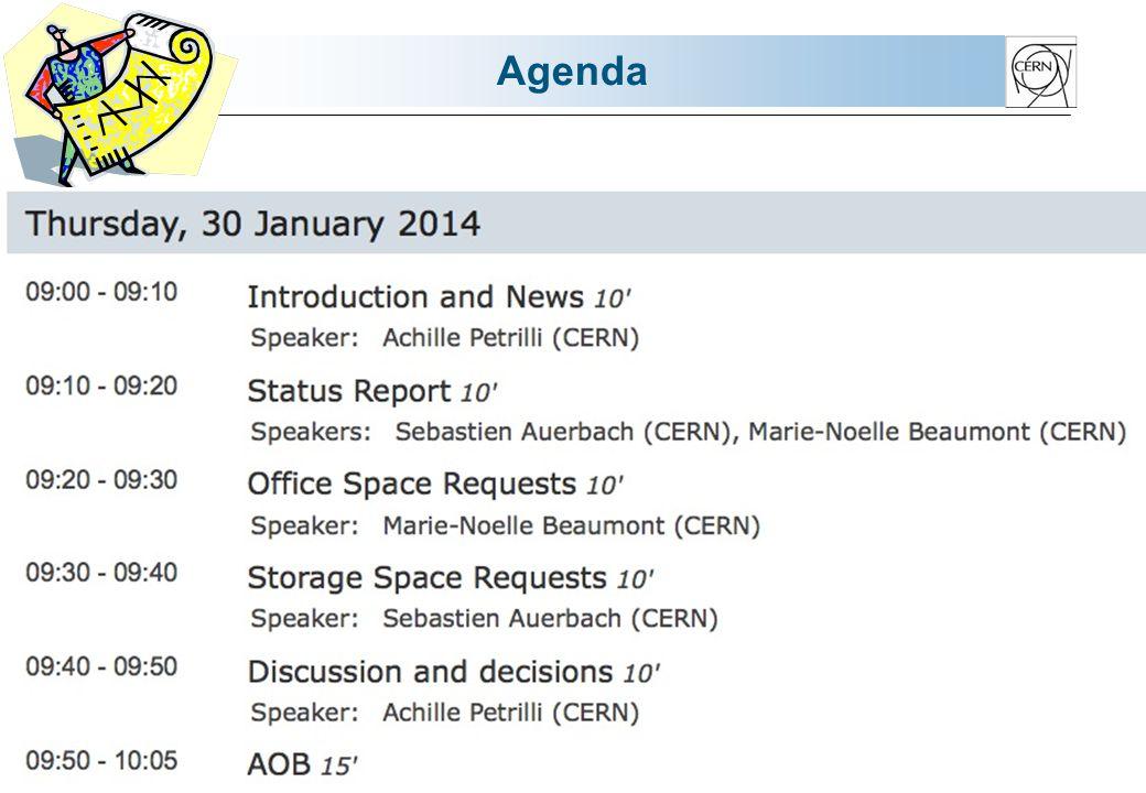 Space Requests - Storage Organisation du déménagement de PH vers le bat 191