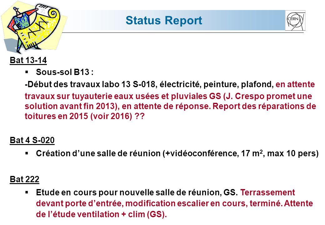 Status Report Bat 26 R-042 ISOLDE : Réhabilitation dun labo.