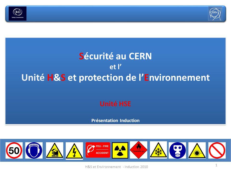 1 H&S et Environnement - Induction 2010