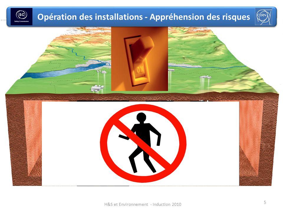 Opération des installations - Appréhension des risques 5 H&S et Environnement - Induction 2010